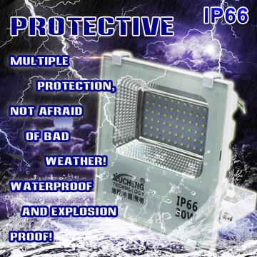 LED Flood Light 30W IP66 Waterproof Outdoor Flood Light 6000K Daylight White Flood Light Garden Parking Lot Outdoor Safety Light Hotel and Frontyard Energy Class A ++