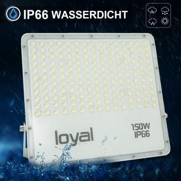 loyal 150W LED spotlight, 13500LM super bright LED spotlight, cold white 6000K, LED floodlight outdoor spotlight, IP66 waterproof floodlight outdoor spotlight for garden, garage, sports field, yard