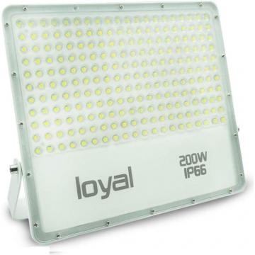 loyal 200W LED spotlight, 18000LM super bright LED spotlight, cold white 6000K, LED floodlight outdoor spotlight, IP66 waterproof floodlight outdoor spotlight for garden, garage, sports field, yard