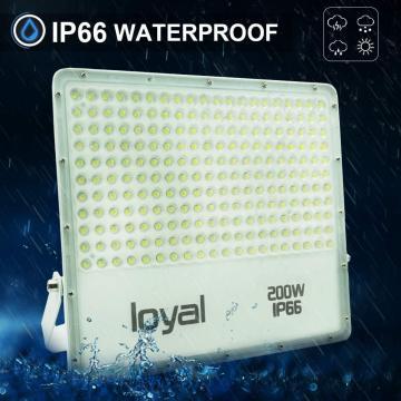 loyal 200W LED spotlight, 18000LM super bright LED spotlight, cold white 6000K, LED floodlight outdoor spotlight, IP66 waterproof floodlight outdoor spotlight for garden, garage, sports field, yard