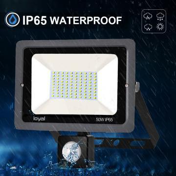 50W LED Strahler mit Bewegungsmelder Superhell LED Außenstrahler Fluter Flutlicht IP65 Flutlichtstrahler Scheinwerfer Licht für Garten, Garage,Sportplatz Energieklasse A++