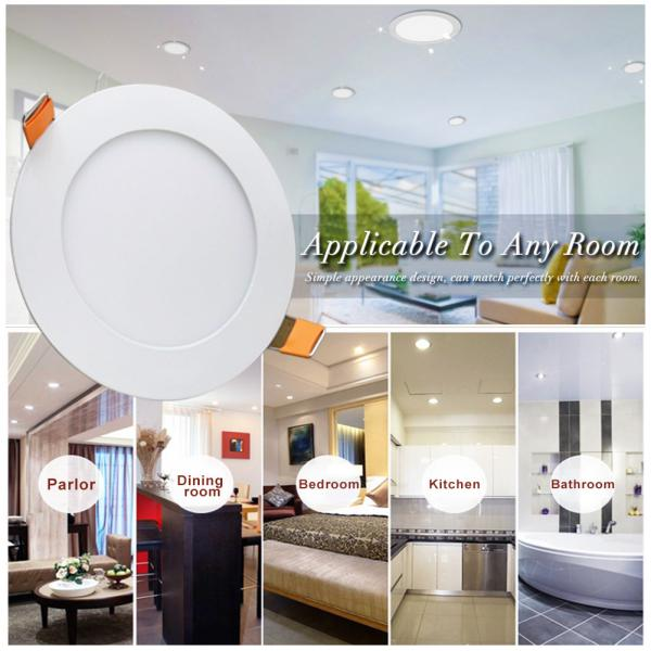 LED recessed ceiling light 6W 3.5 inch cold white 6000k round LED panel light home, office, commercial lighting 2 years warranty energy class A ++