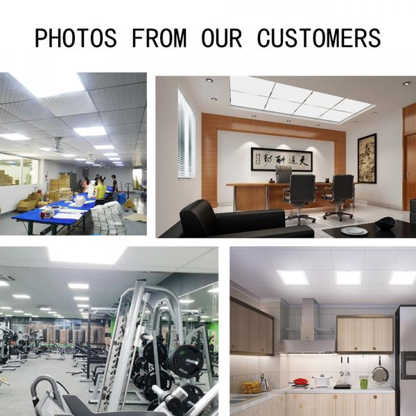 Led panel light 595X595 48W led embedded ceiling lamp 6000k led embedded ceiling lamp corridor office living room bathroom kitchen lamp ceiling lamp (two per box)