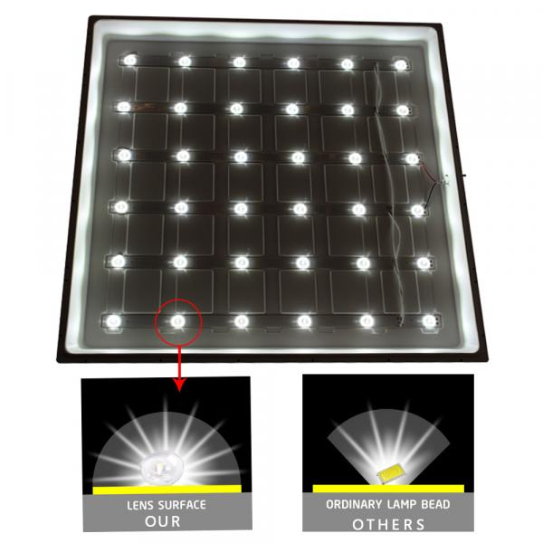 Led recessed ceiling light 70W 600*600 super bright 6000K wick square light, home commercial light close to daylight cold white light [Energy Class A+]