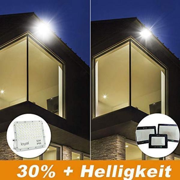 loyal 50W LED spotlight, 2700LM super bright LED spotlight, cold white 6000K, LED floodlight outdoor spotlight, IP66 waterproof floodlight outdoor spotlight for garden, garage, sports field, yard